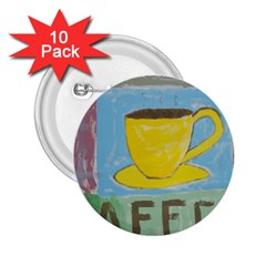 Kaffe Painting 2.25  Button (10 pack)