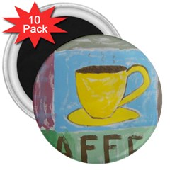 Kaffe Painting 3  Button Magnet (10 pack)