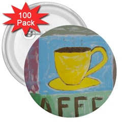 Kaffe Painting 3  Button (100 pack)