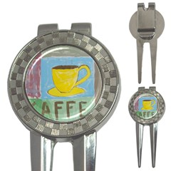 Kaffe Painting Golf Pitchfork & Ball Marker