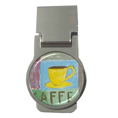 Kaffe Painting Money Clip (round)