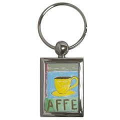 Kaffe Painting Key Chain (Rectangle)