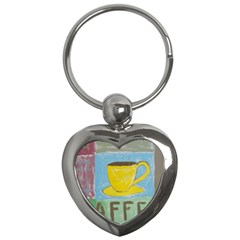 Kaffe Painting Key Chain (Heart)