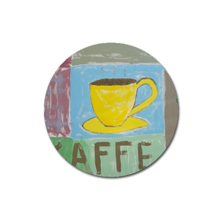 Kaffe Painting Magnet 3  (Round)