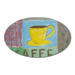 Kaffe Painting Magnet (oval)