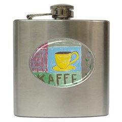 Kaffe Painting Hip Flask
