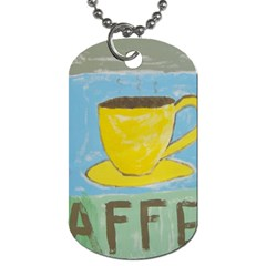 Kaffe Painting Dog Tag (Two-sided)