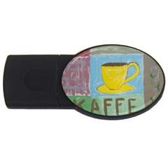 Kaffe Painting 1GB USB Flash Drive (Oval)