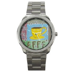 Kaffe Painting Sport Metal Watch