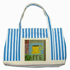 Kaffe Painting Blue Striped Tote Bag