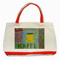 Kaffe Painting Classic Tote Bag (Red)
