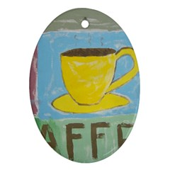 Kaffe Painting Oval Ornament (Two Sides)