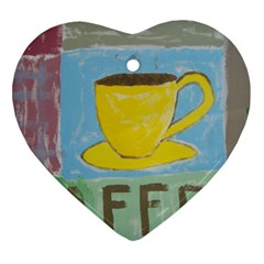 Kaffe Painting Heart Ornament (Two Sides)