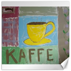 Kaffe Painting Canvas 12  x 12  (Unframed)