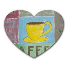 Kaffe Painting Mouse Pad (Heart)