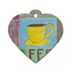 Kaffe Painting Dog Tag Heart (One Sided)