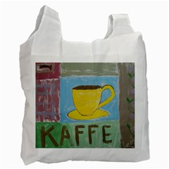 Kaffe Painting White Reusable Bag (Two Sides)