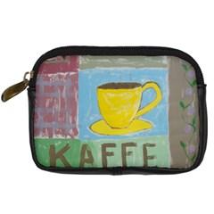 Kaffe Painting Digital Camera Leather Case