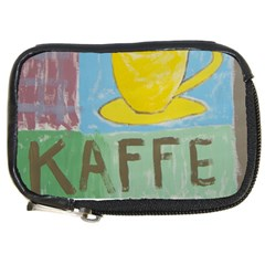 Kaffe Painting Compact Camera Leather Case