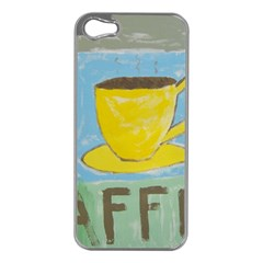 Kaffe Painting Apple Iphone 5 Case (silver)