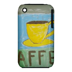 Kaffe Painting Apple iPhone 3G/3GS Hardshell Case (PC+Silicone)