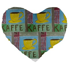 Kaffe Painting 19  Premium Heart Shape Cushion
