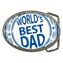 Fathers Day Rubber Stamp Effect Belt Buckle (Oval)