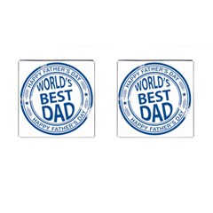 Fathers Day Rubber Stamp Effect Cufflinks (Square)