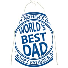 Fathers Day Rubber Stamp Effect Apron