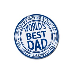 Fathers Day Rubber Stamp Effect Drink Coaster (round)