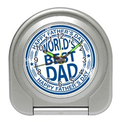 Fathers Day Rubber Stamp Effect Desk Alarm Clock