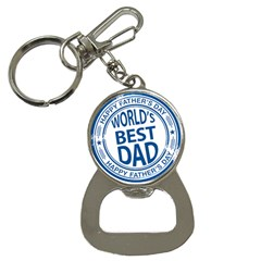 Fathers Day Rubber Stamp Effect Bottle Opener Key Chain