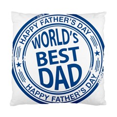 Fathers Day Rubber Stamp Effect Cushion Case (Single Sided)