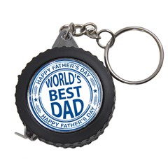 Fathers Day Rubber Stamp Effect Measuring Tape