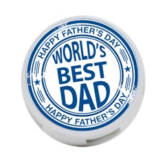 Fathers Day Rubber Stamp Effect 4 Port Usb Hub (two Sides)