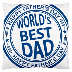 Fathers Day Rubber Stamp Effect Large Cushion Case (Two Sided)