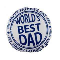 Fathers Day Rubber Stamp Effect 15  Premium Round Cushion