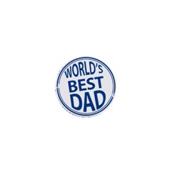 Fathers Day Rubber Stamp Effect 1  Mini Button