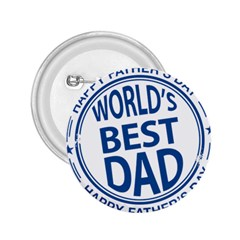 Fathers Day Rubber Stamp Effect 2 25  Button