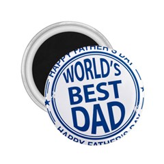 Fathers Day Rubber Stamp Effect 2.25  Button Magnet