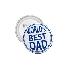 Fathers Day Rubber Stamp Effect 1 75  Button