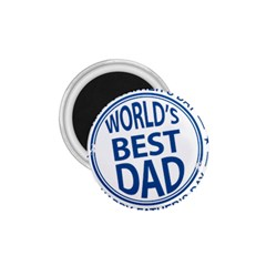 Fathers Day Rubber Stamp Effect 1.75  Button Magnet