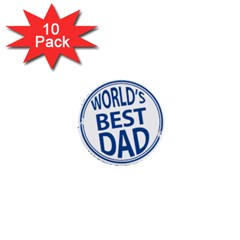 Fathers Day Rubber Stamp Effect 1  Mini Button (10 pack)