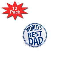 Fathers Day Rubber Stamp Effect 1  Mini Button Magnet (10 Pack)