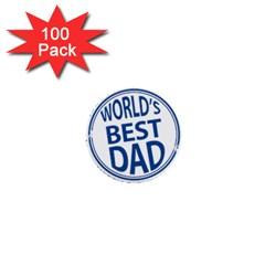 Fathers Day Rubber Stamp Effect 1  Mini Button (100 pack)