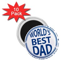 Fathers Day Rubber Stamp Effect 1.75  Button Magnet (10 pack)