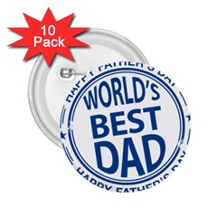 Fathers Day Rubber Stamp Effect 2.25  Button (10 pack)