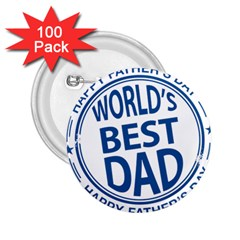 Fathers Day Rubber Stamp Effect 2 25  Button (100 Pack)