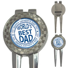 Fathers Day Rubber Stamp Effect Golf Pitchfork & Ball Marker