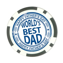 Fathers Day Rubber Stamp Effect Poker Chip (10 Pack)